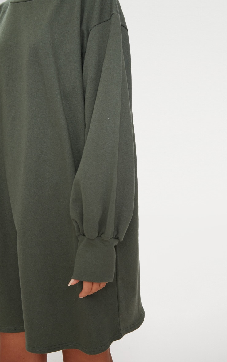 Khaki Oversized Sweater Dress 5