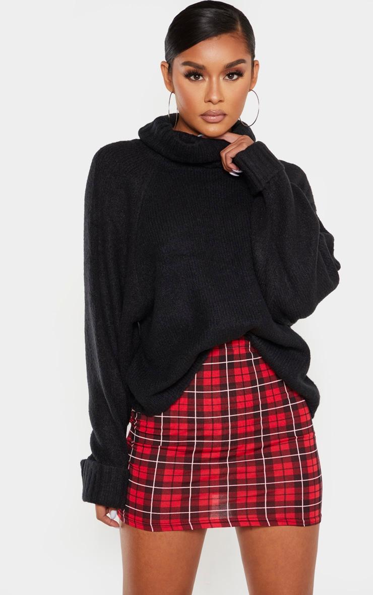 Tartan Check Print Mini Skirt  1