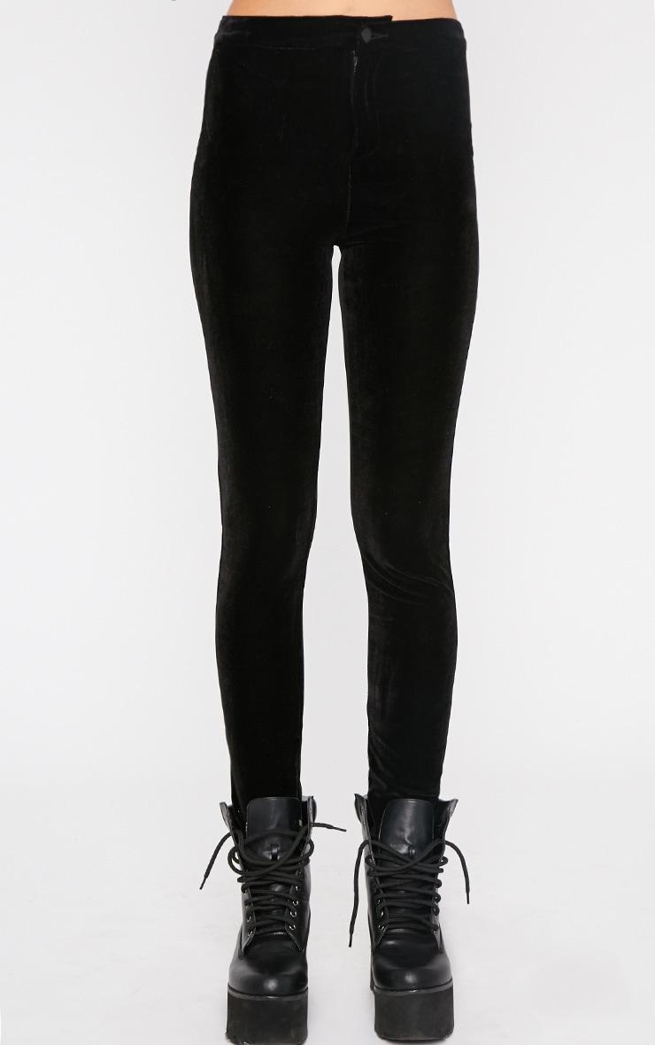 Sally Black Velvet Trouser  3