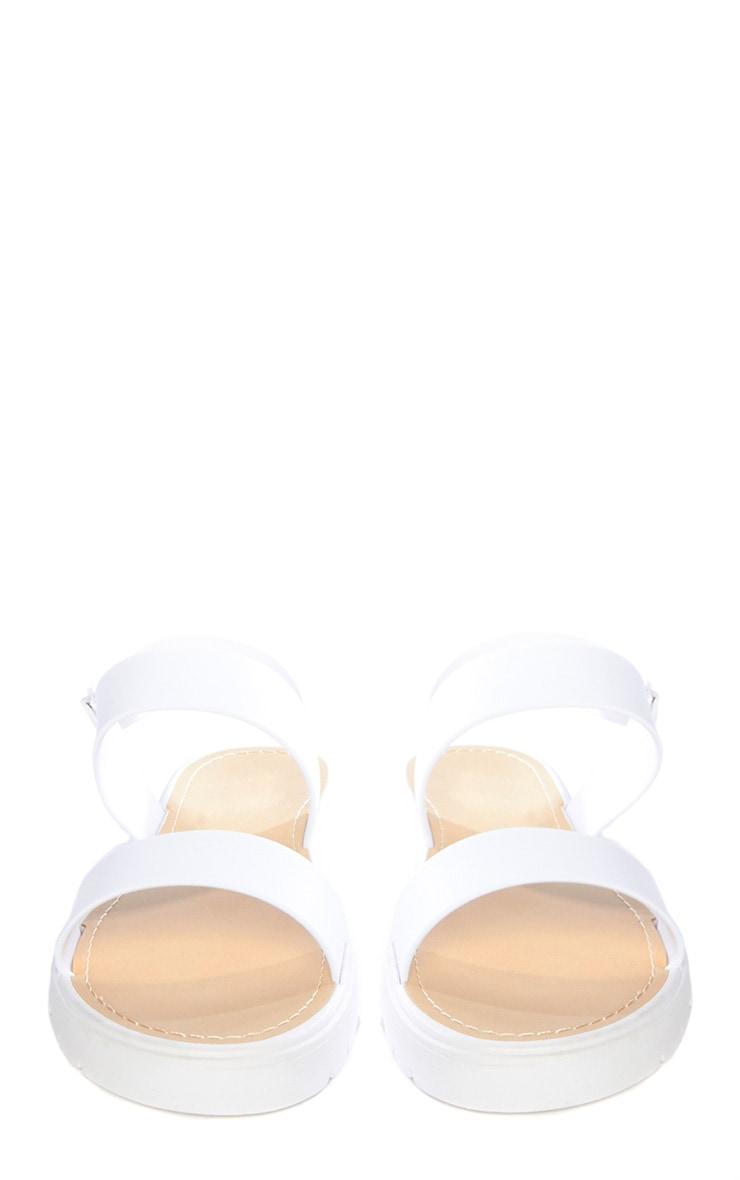 Anneli White Rubber Sandals 2
