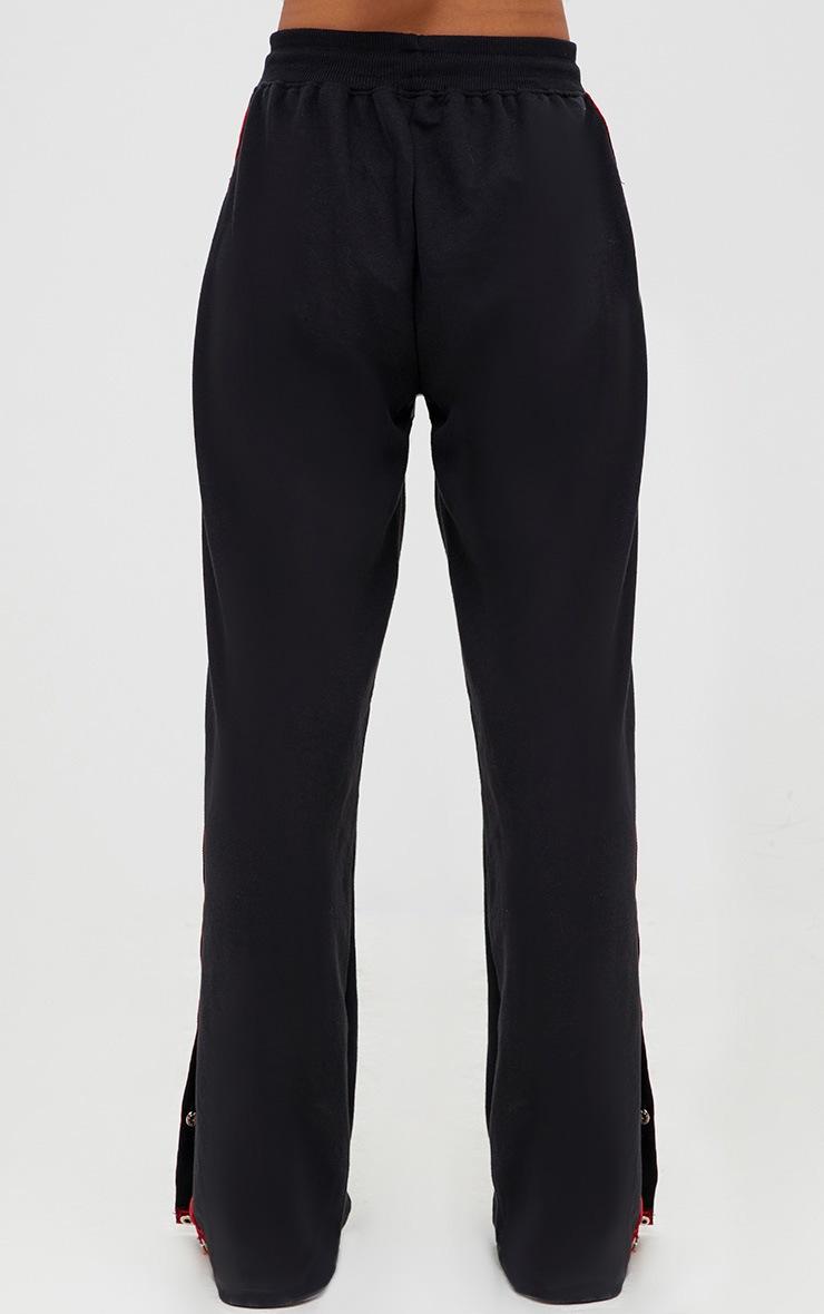 Black Contrast Popper Joggers  3