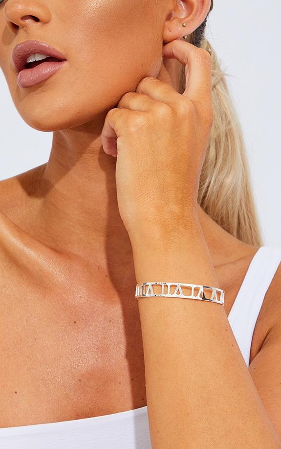 Silver Numeral Cut Out Bracelet 1