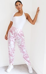 Pink Tie Dye Casual Joggers 1