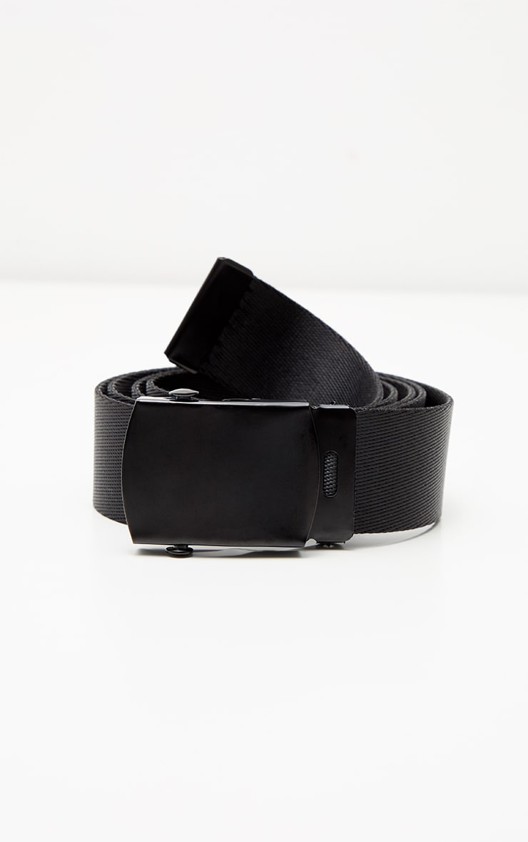 Black Webbing Tape Belt 2