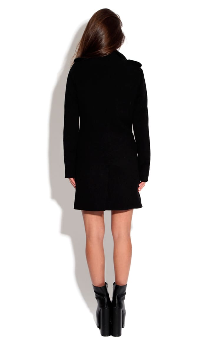 Mina Tailored Coat With Pu Collar 2