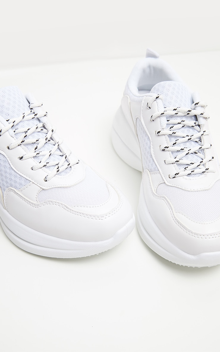 White Hiker Sneakers 1