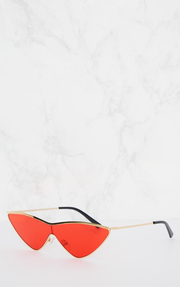 Lunettes de sport rouges style oeil de chat 3