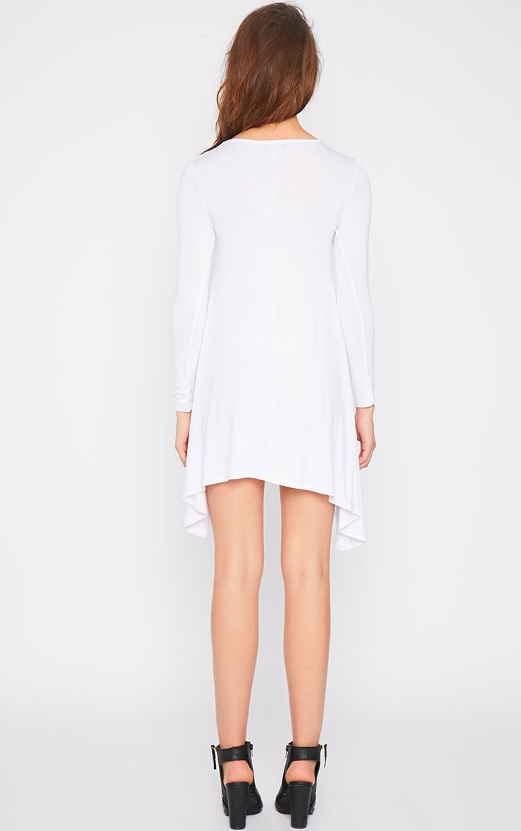 Basic White Swing Dress 2