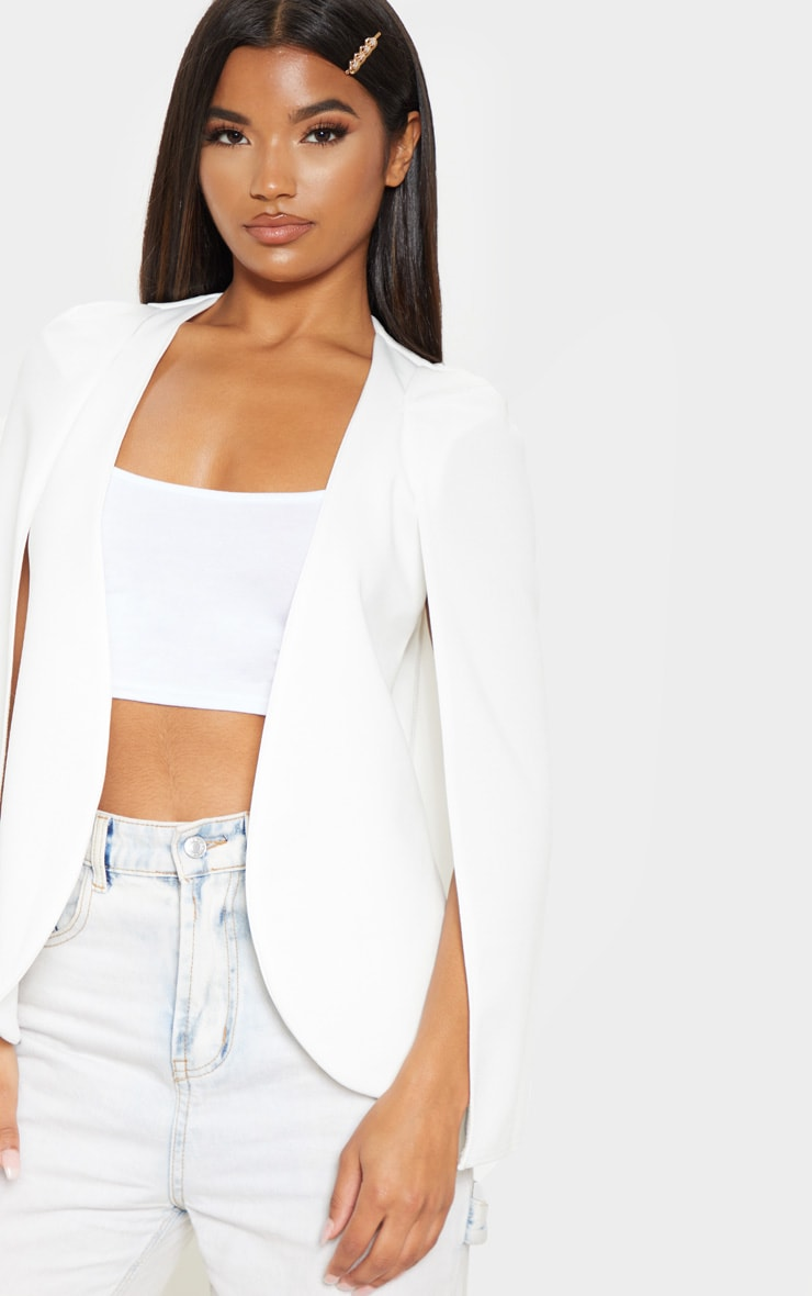 White Cape Blazer  5