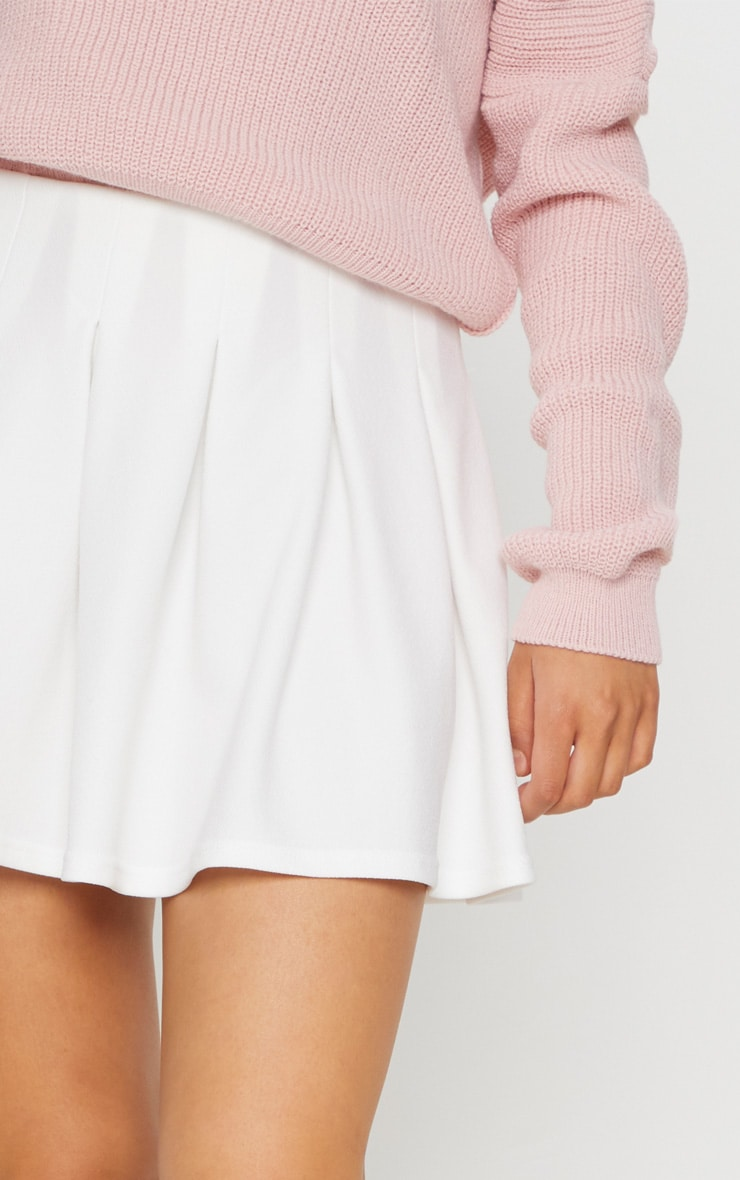 White Pleated Tennis Skirt 6