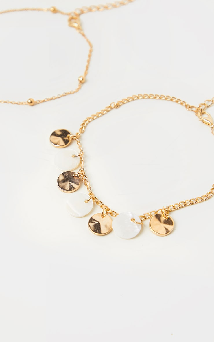 Gold Assorted Three Pack Anklets 2