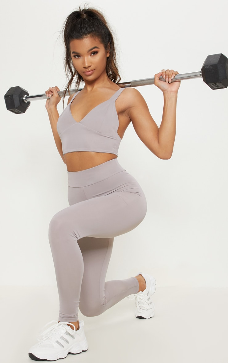 Grey Basic Gym Legging 1