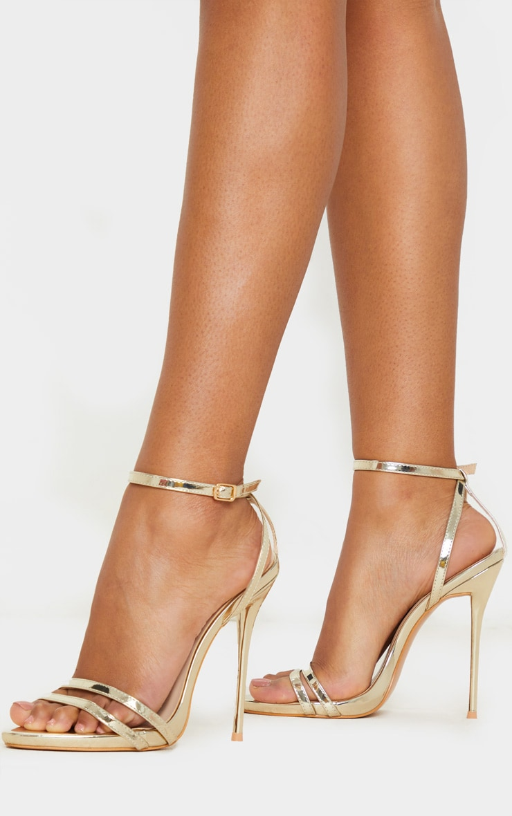 Gold High Strappy Sandal 2