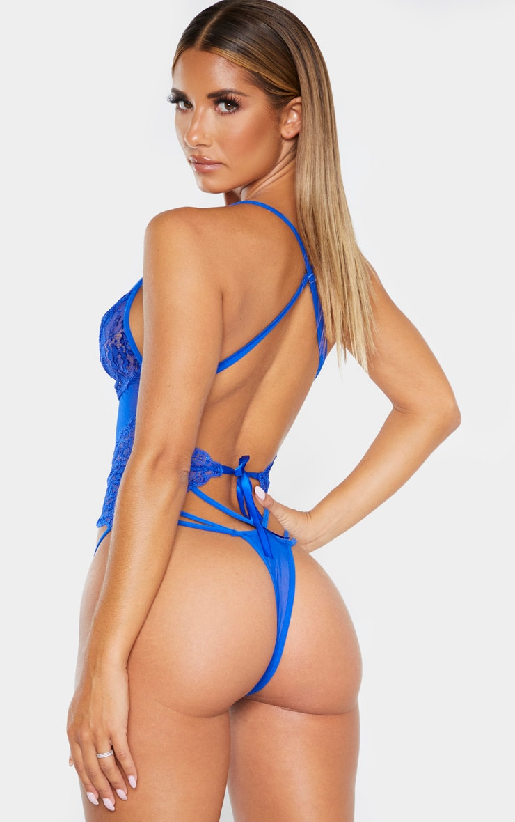 Cobalt Strapping Detail Lace Body 2