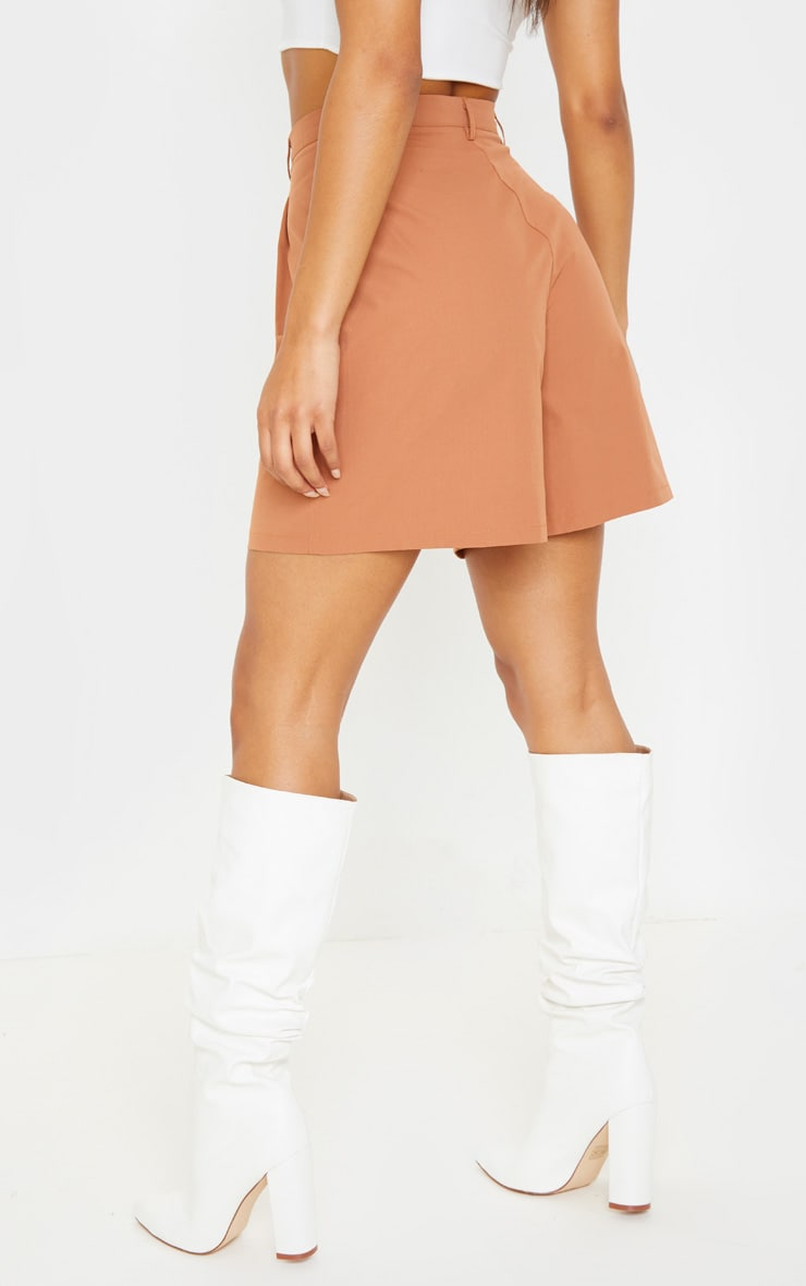 Taupe Woven Oversized Longline Short 4