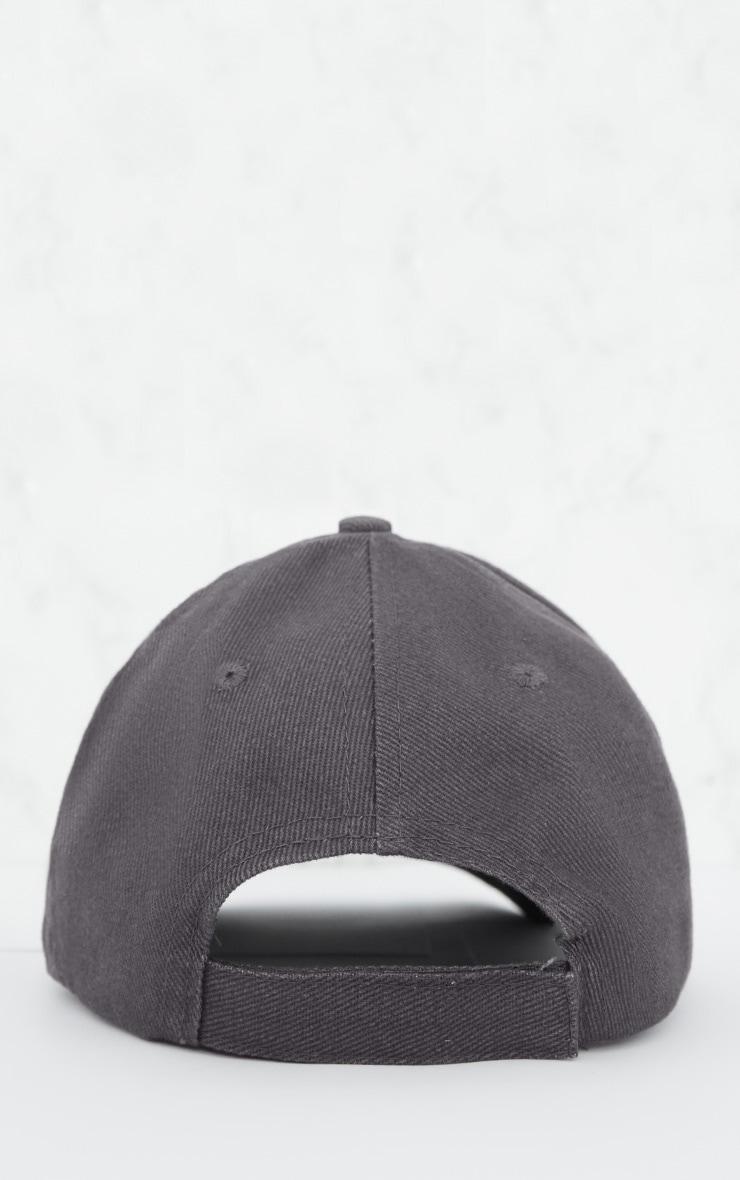 Charcoal Woven Baseball Cap 4