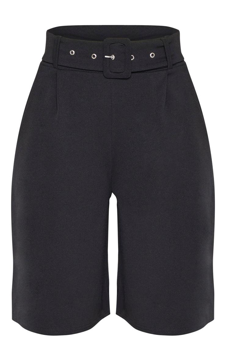 Short ceinturé long noir  3