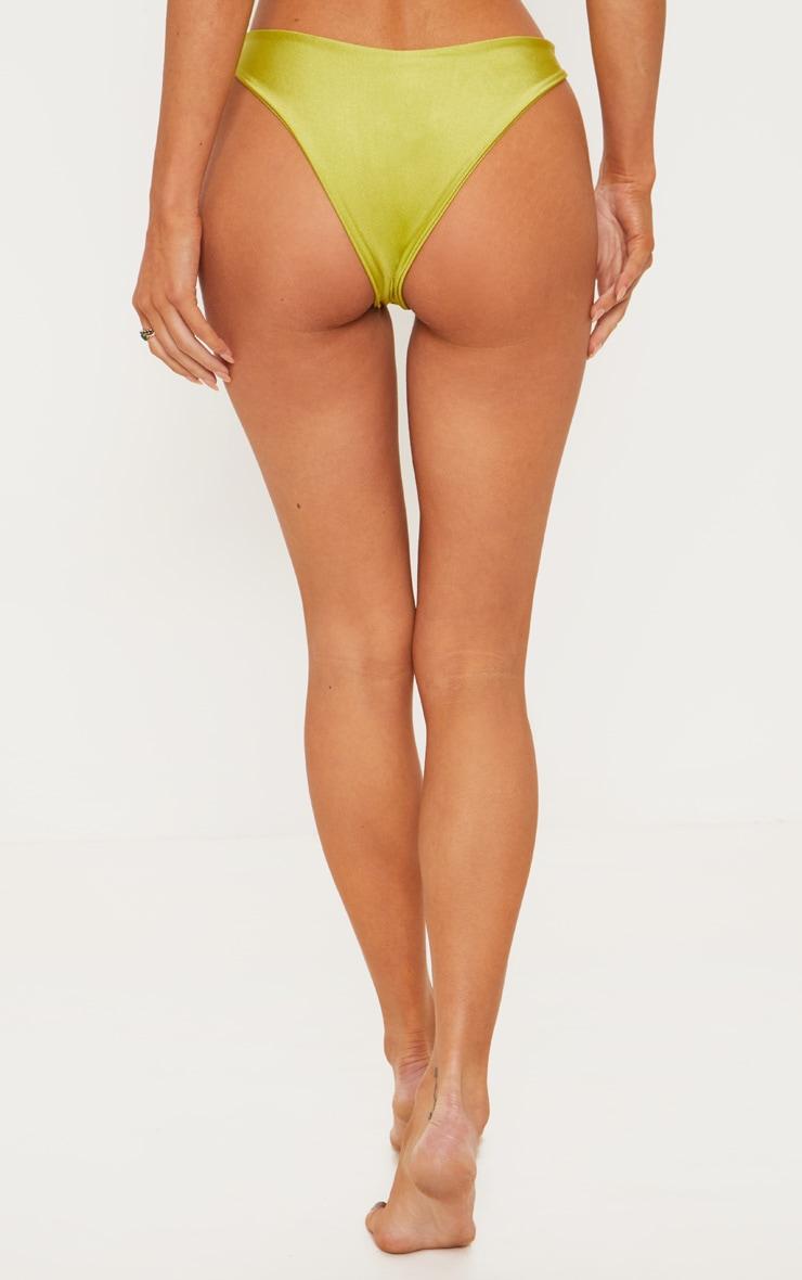 Olive Knotted Bikini Bottom 5
