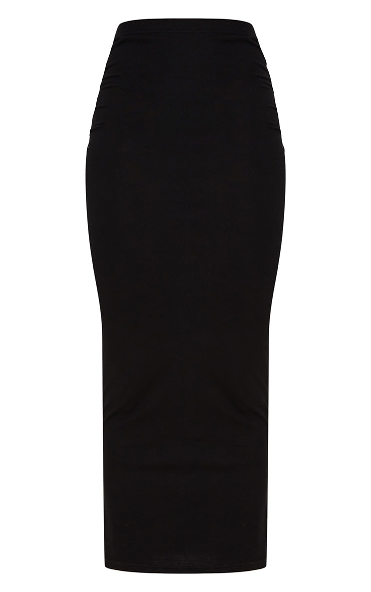 Black Jersey Midaxi Skirt  3