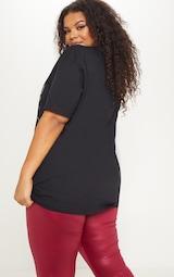 242a4b4ac Plus Black Tokyo Oversized T Shirt | PrettyLittleThing
