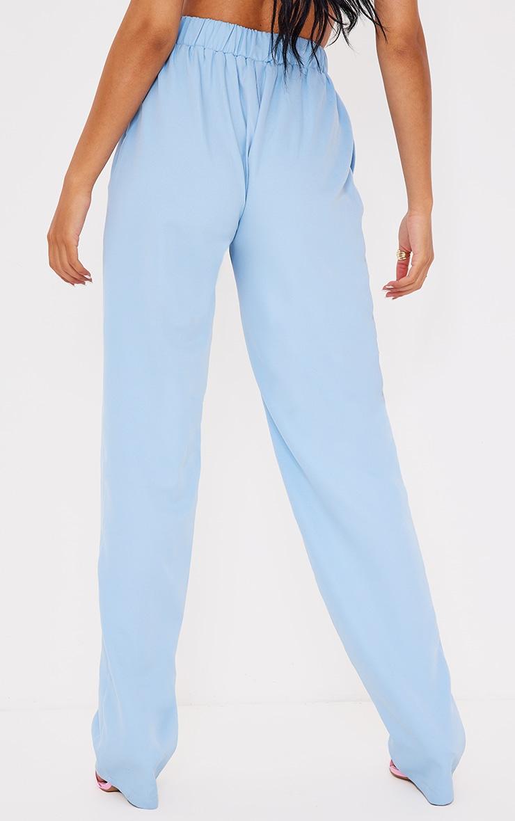 Tall - Pantalon évasé bleu à taille élastique 3