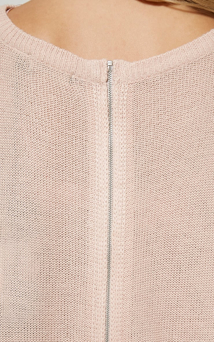 Amia Pink Zip Back Jumper 5