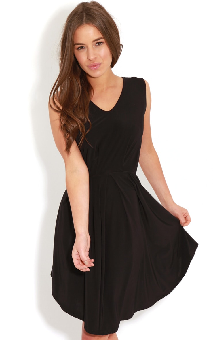 Anita Black Swing Dress 1