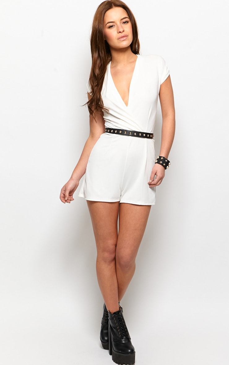 Kacey Cream Crossover Playsuit  4