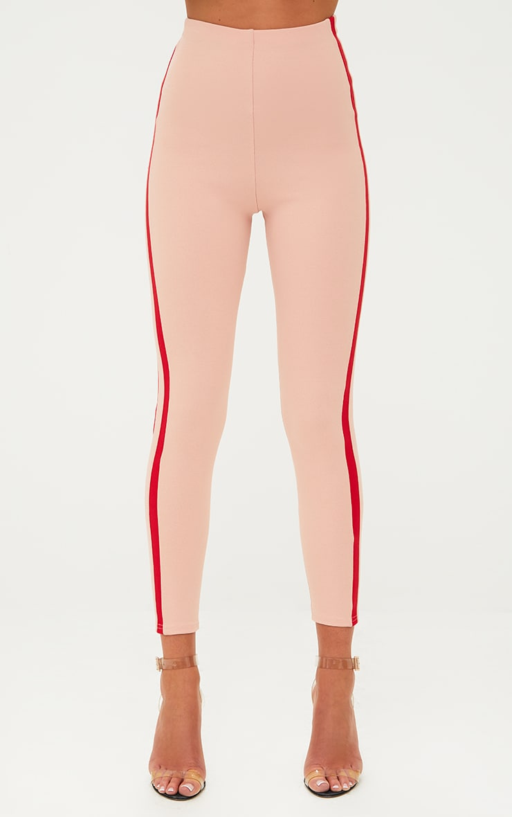 Dusty Pink High Waisted Track Trousers 2
