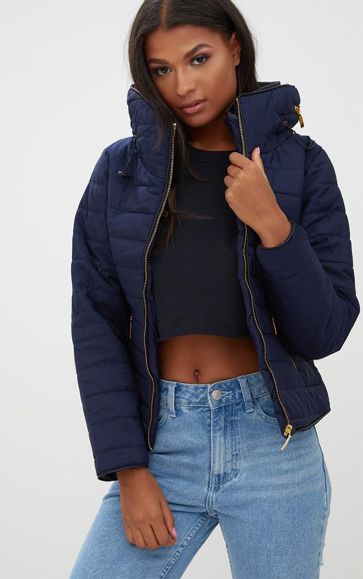 Mara Navy Puffer Jacket