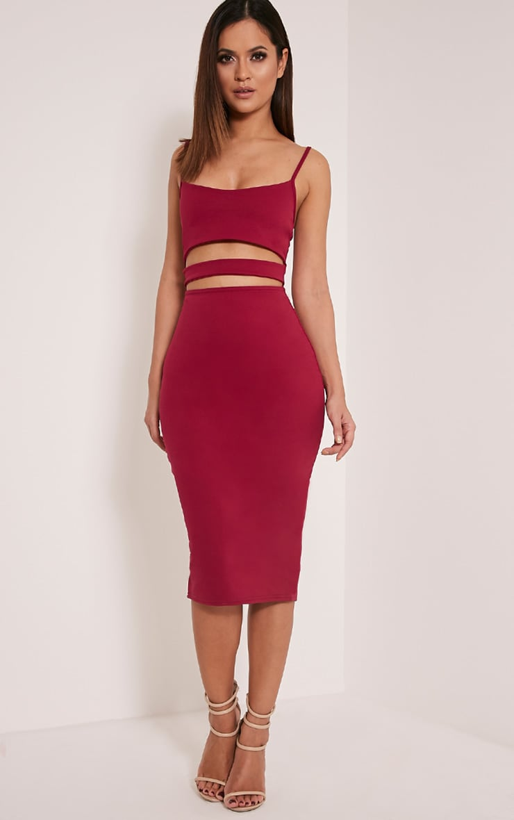 Kheelie Berry Cut Out Midi Dress 1