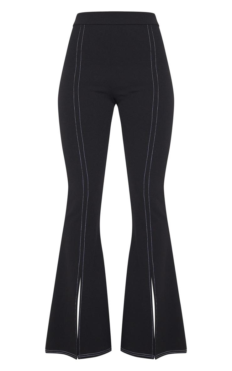 Black Split Leg Flare Trouser 3
