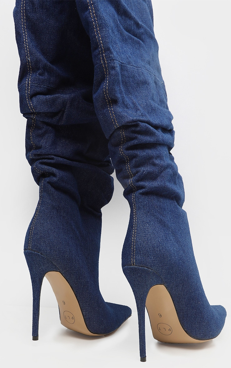 Denim Slouch Thigh High Boot 4