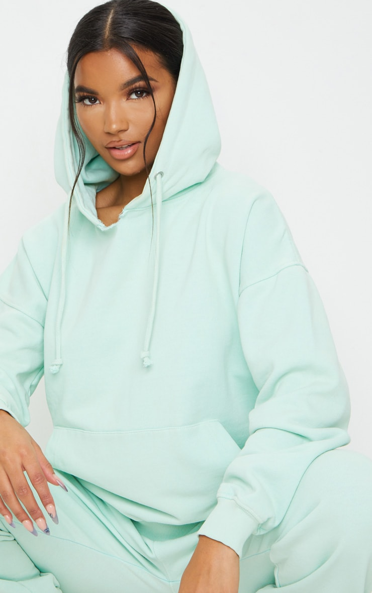 Mint Washed Oversized Hoodie 4