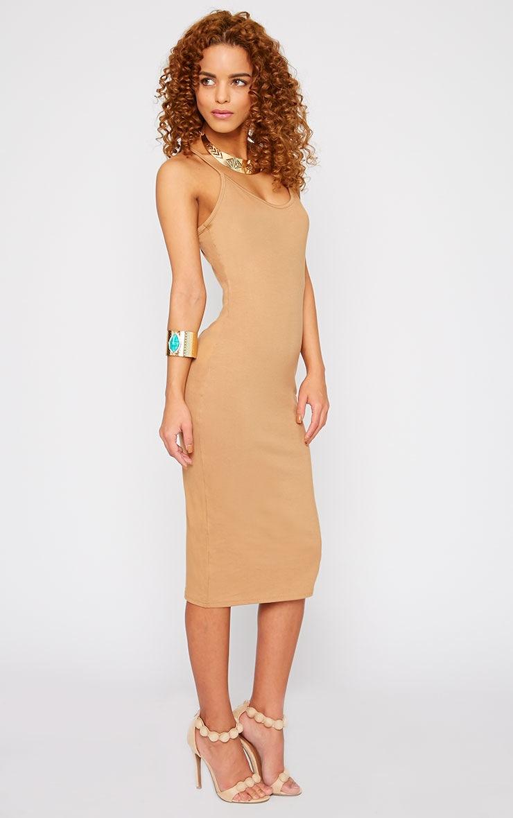 Basic Camel Midi Dress 4