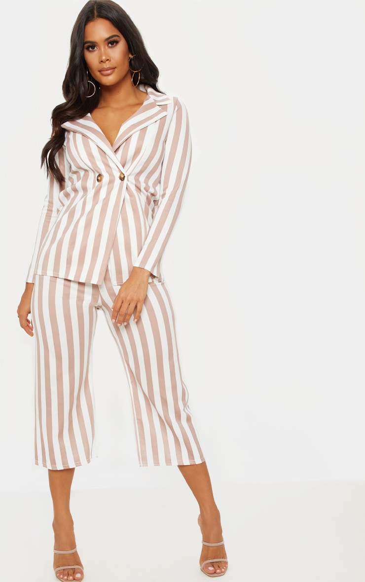 Camel Striped Culottes  1
