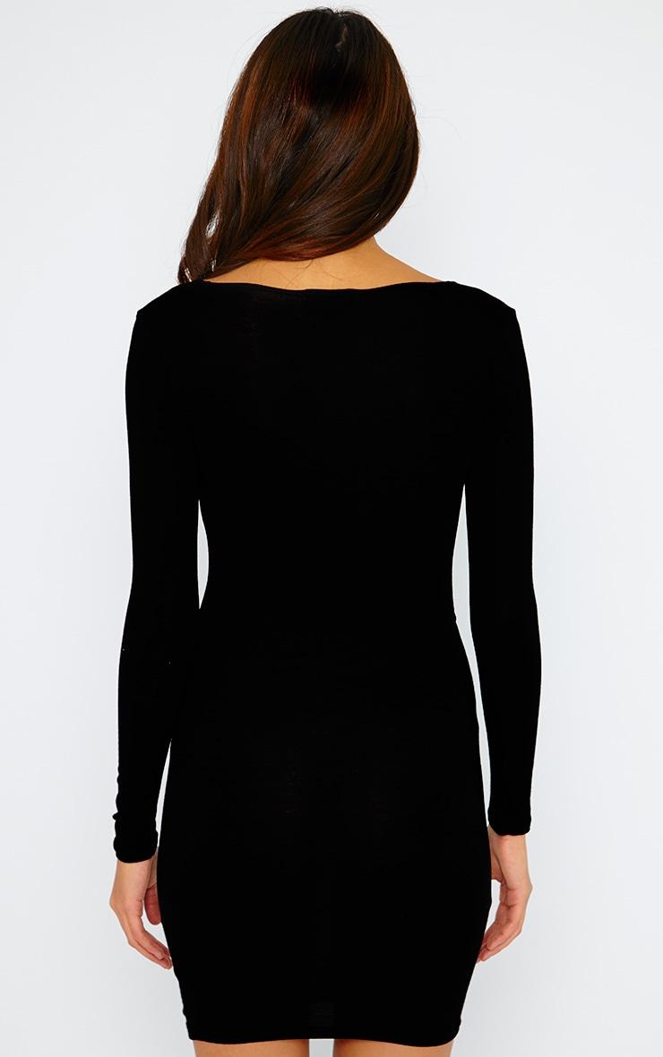 Basic Black Wrap Dress 2