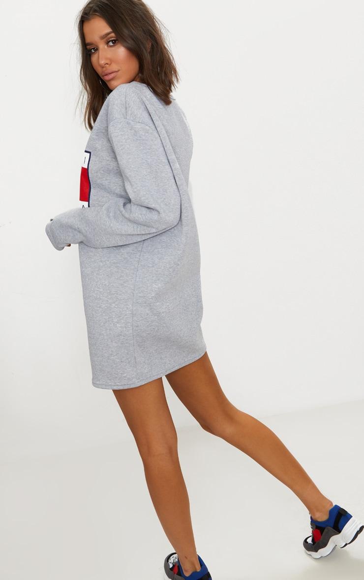 Grey Comme Ci Print Jumper Dress 2