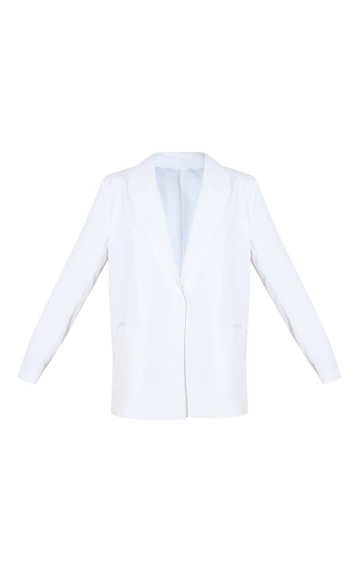 White Oversized Dad Blazer 5