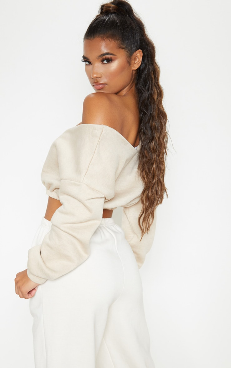 Sand Crop Off Shoulder Sweater 3