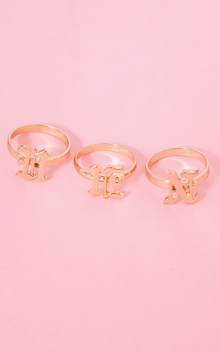 Gold Hun Gothic 3 Pack Rings 1