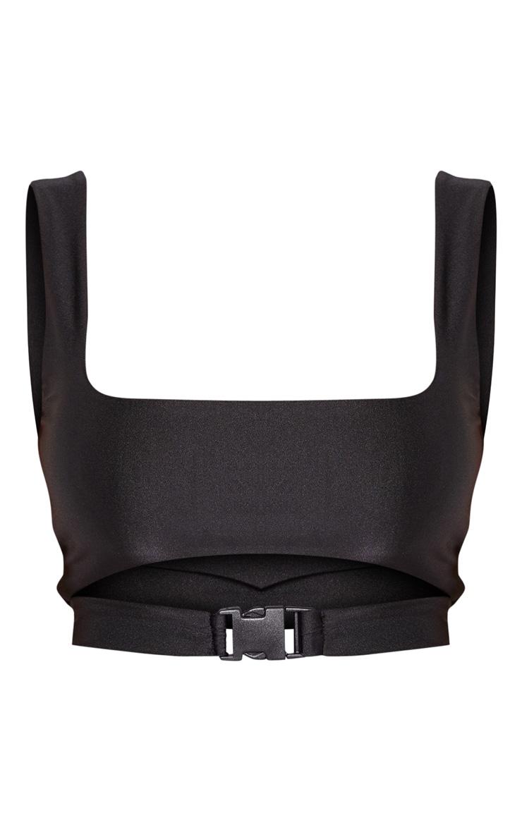 Shape Black Buckle Front Bikini Top 3