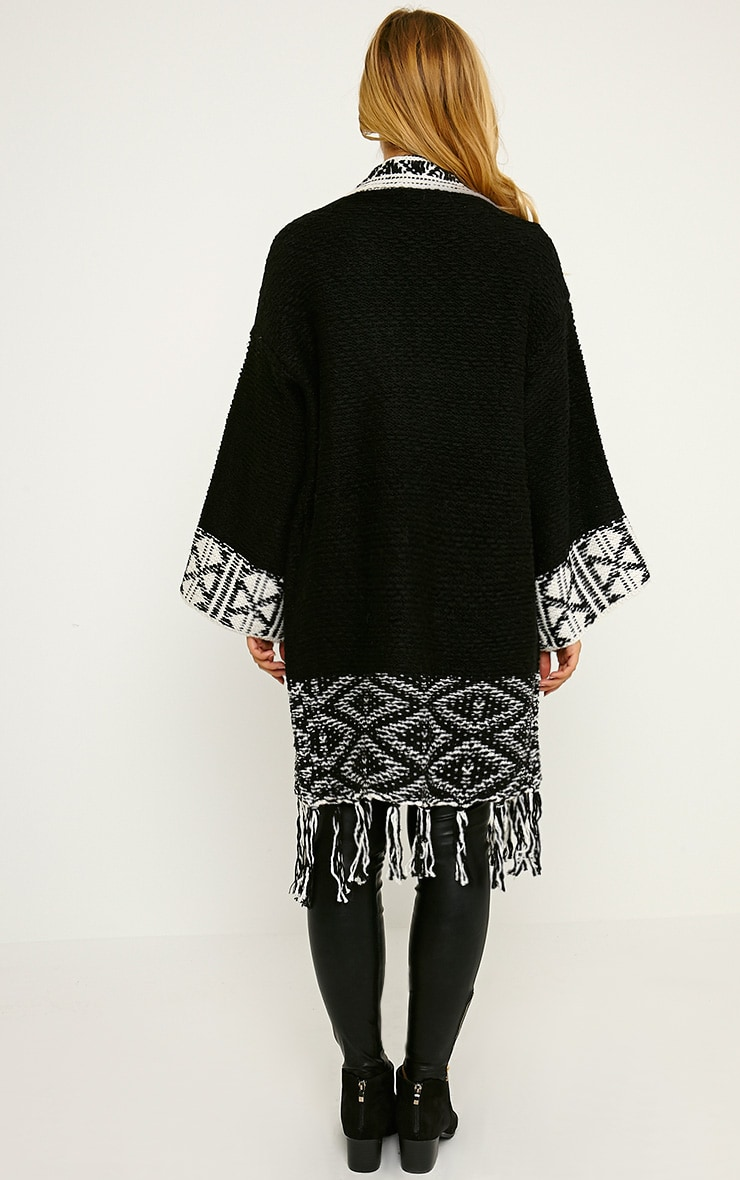 Eilysh Black Heavy Knit Cardigan 2