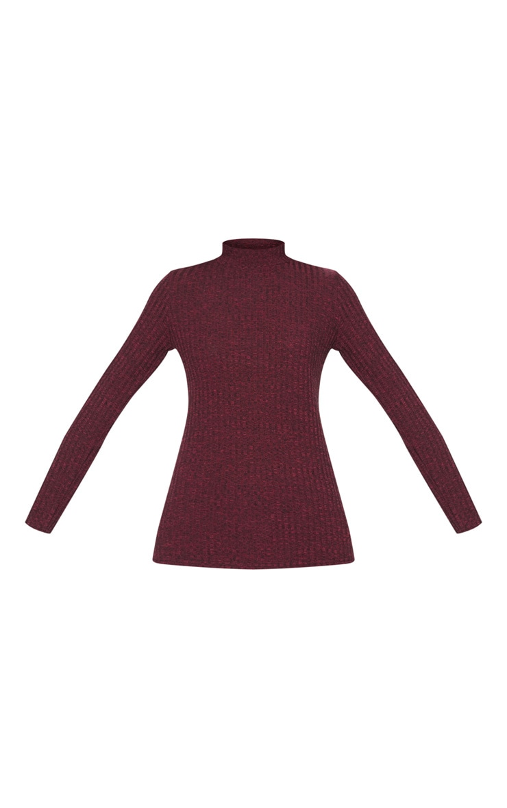Plum High Neck Long Sleeve Top 3