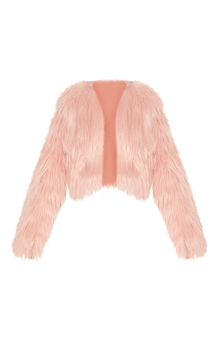 Pink Shaggy Faux Fur Jacket  3