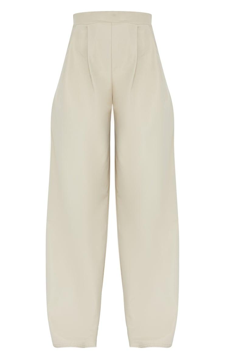 Stone Woven Pleat Detail Extreme Wide Leg Pants 5