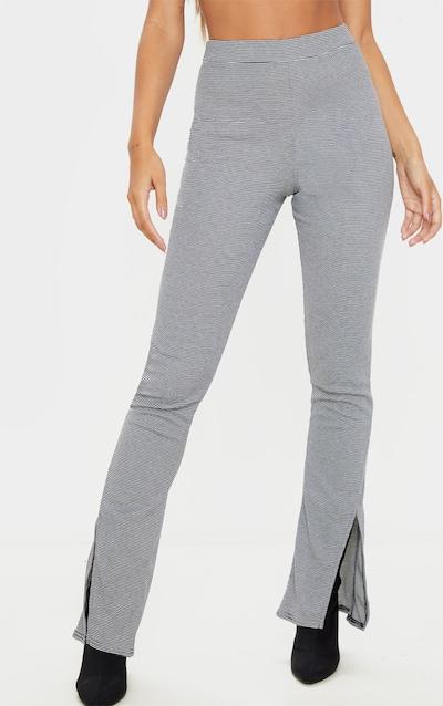 Black Gingham Split Detail Trouser