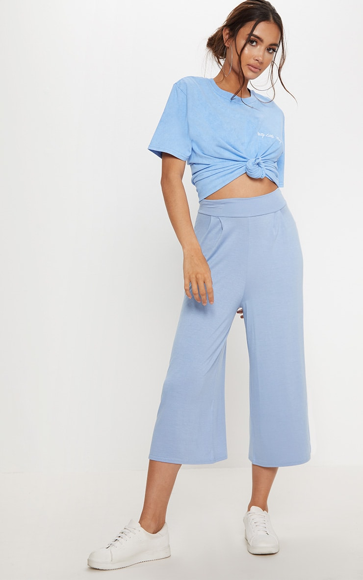 Mineral Blue Basic Culotte  1