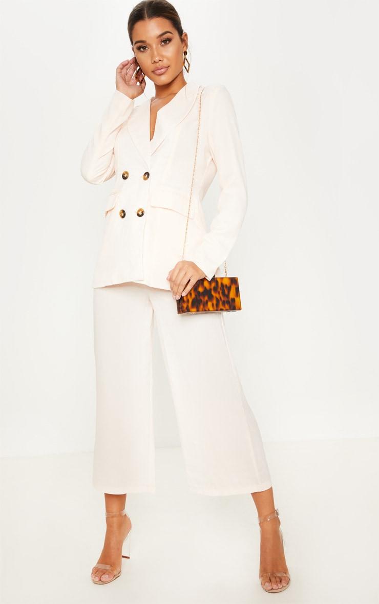 Cream Button Detail Culottes 2