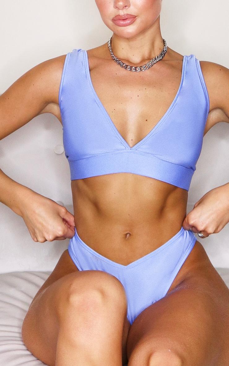 Cornflower Blue Mix & Match V Front Bikini Bottoms 5